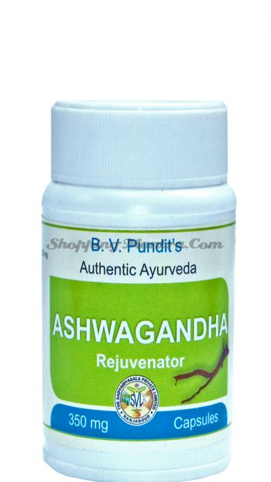 Ашваганда для нервной системы B.V.Pundit Ashwagandha Capsules