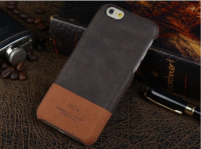 KAJSA Iphone 6/6s Vintage Collection Genuine Leather Backcase - Brown