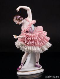 Танцовщица с кастаньетами, кружевная, Sitzendorf, Германия, вт. по. 20 в., артикул 01768