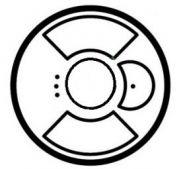 Накладка выкл.  для управл. рольставнями многозонального ИК/PLC белая(арт.68166)