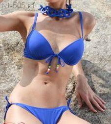 Купальник раздельный синий Bigao push-up