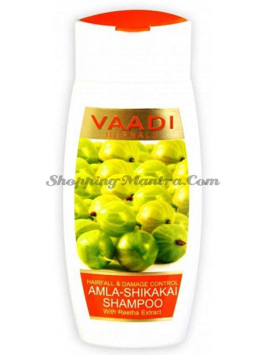 Шампунь против выпадения волос Амла &Шикакай Ваади/ Vaadi Herbals Amla Shikakai Shampoo