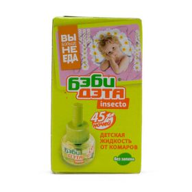 Дэта-Бэби. Жидкость insecto для фумигатора. 45ночей. Без запаха. 30мл. Химик. /24/