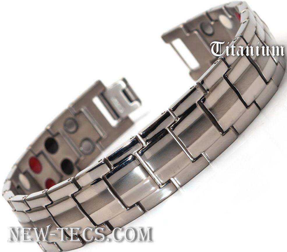 Титановый магнитный браслет TY-001NT-Mj-white