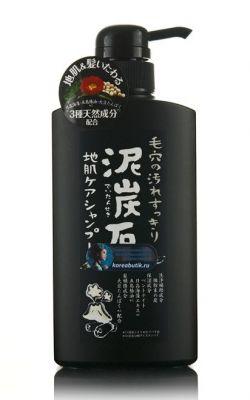 Японский шампунь на основе угля и торфа БЕЗ СИЛИКОНА Pelican