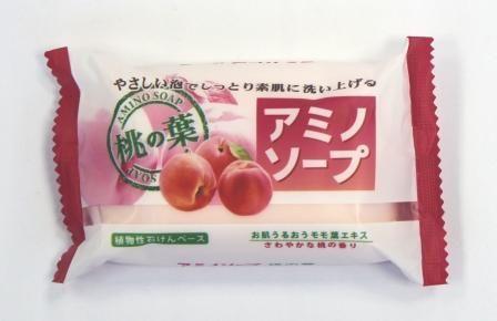 Японское мыло с аминокислотами и экстрактом персика «Amino Soap» Pelican