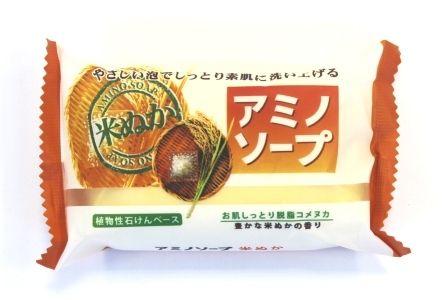 Японское мыло с аминокислотами и рисовыми отрубями «Amino Soap» Pelican
