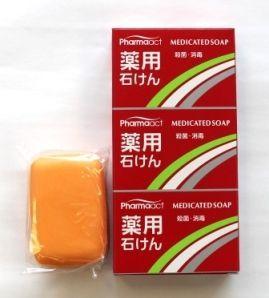 Японское антибактериальное твердое мыло с триклозаном Deev Pharmaact
