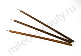 Кисть для росписи с бамбуковой ручкой, натуральная