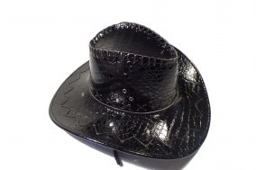 Ковбойская   шляпа кожаная