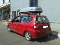 Багажник на крышу Honda Jazz, Атлант, аэродинамические дуги