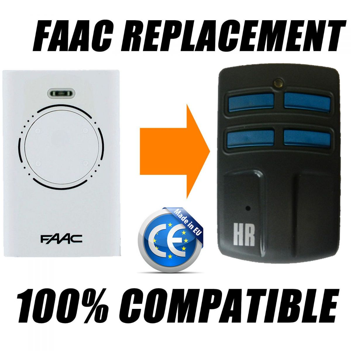 Пульт HR MULTI 2 433-868 мГц (FAAC XT2, XT4, SLH)