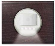 Накладка датчика движения со световым указателем белая(арт.68051)