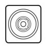 Накладка выкл. с ключом Legrand Celiane для светильников BAES белая (арт.68189)