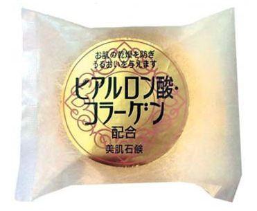 Гиалурон-коллагеновое мыло Naniwa Hyaluronic Acid & Combination Fair Skin Soap