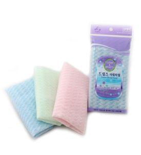 Корейская мочалка для душа, средней жесткости (голубая, розовая) Shower Towel Dream's