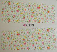 Водная наклейка для дизайна ногтей С113