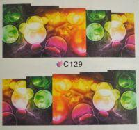 Водная наклейка для дизайна ногтей С129