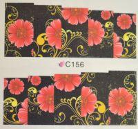 Водная наклейка для дизайна ногтей С 156