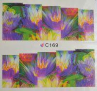 Водная наклейка для дизайна ногтей С 169