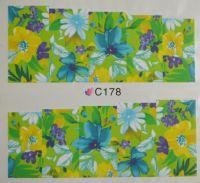 Водная наклейка для дизайна ногтей С 178