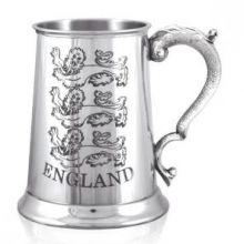 Оловянная кружка -Кельтский Танкард- Англия (Три Королевских Льва) THREE LIONS, ENGLISH PEWTER