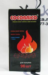 """Уголь натуральный """"Cocobrico"""" 96 кубиков"""