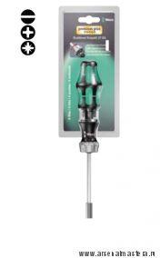 Набор ручки-держателя с функцией трещотки и 6 насадок Kraftform Kompakt 27 RA 1 WERA 073660