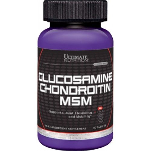 ULTIMATE NUTRITION Glucosamine & Chondroitin & MSM 90таб. скл2 1-2дня