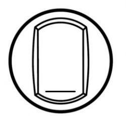 Клавиша выкл. 1-полюсного на 2 напр. 10 АХ с этикеткой Беж Legrand Celiane   (арт.66215)