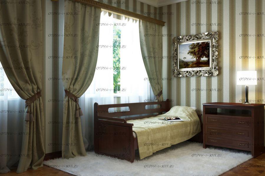 Кровать Оттомано Дуо Массив с 2 ящиками DreamExpert