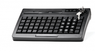 Программируемая клавиатура АТОЛ KB-60-KU черная c ридером магнитных карт на 1-3 дорожки