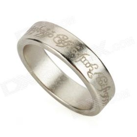Магнитное кольцо серебро с надписью (Кольцо Всевластия из Властелина колец)