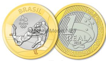 Бразилия 1 реал 2015 - Регби. XXXI летняя Олимпиада в Рио-де-Жанейро 2016