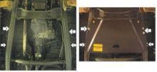 Защита раздатки, Motodor, сталь 3мм., для V - 2.5 ТD и 3.0i