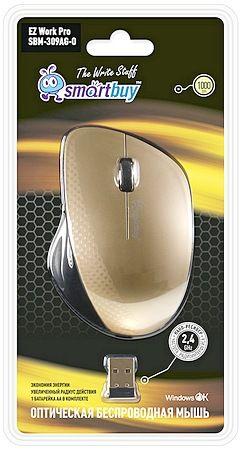 Мышь беспроводная Smartbuy 309AG (золотой металлик)