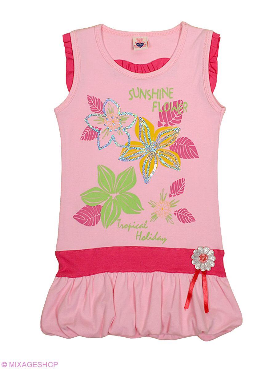 Хорошенькое трикотажное платье с цветочным рисунком
