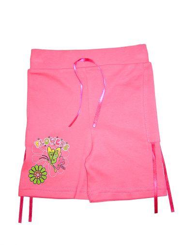 Прекрасные шорты из трикотажа с присбаривающимися ленточками