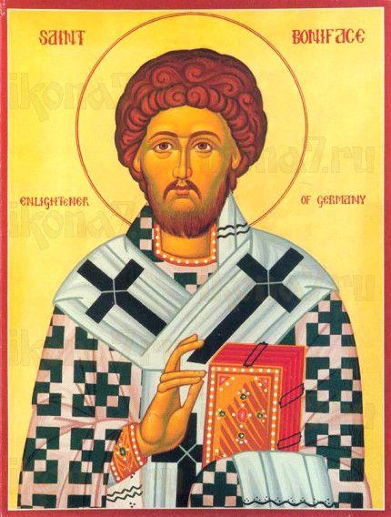 Вонифатий Милостивый (рукописная икона)
