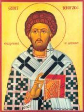 Икона Вонифатий Милостивый (рукописная)