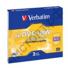 VERBATIM DVD+RW 4,7 GB 4x SL/3