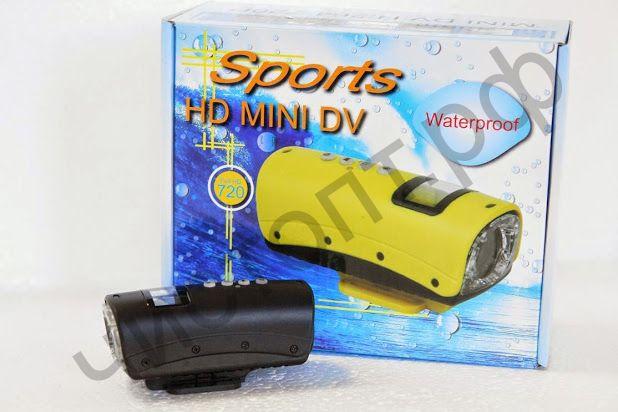 Экшен камера Sports HD Mini DV S20 Waterproof водостойк. несколько видов креплений Action Camera Распродажа !!!