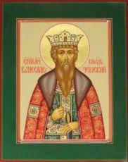 Вячеслав Чешский (рукописная икона)