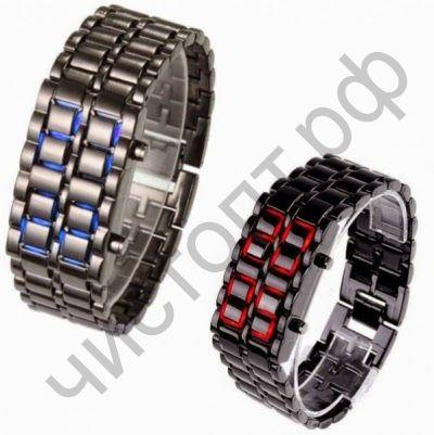 Часы наручн.электрн. LED Самурай CH-1004 метал  время, дата( пит.СR2016) Хит интернета !!! Распродажа !!!