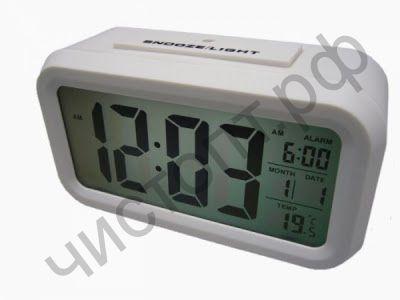 Часы эл. настоль. Орбита TD-109 (1019) датчик освещ, темпер, будильник, дата