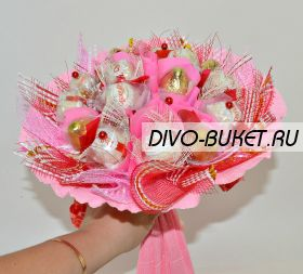 """Букет из конфет Раффаэлло №463 """"Розовые мечты"""""""