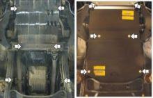 Защита картера, Акпп, переднего дифф-а, Motodor, сталь 3мм., для V - 2.5ТD и 3.2TD