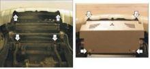 Защита радиатора, Motodor, алюминий 5мм., для V - 2.5 ТD, 3.2TD и 3.0i с АКПП