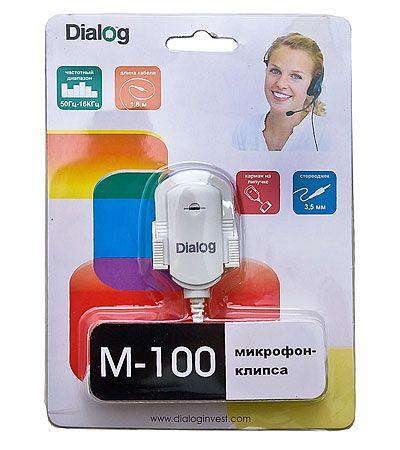 Микрофон ПК Dialog клипса для крепления на монитор M-100W