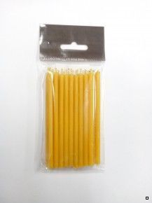 Свеча восковая натуральная желтая, 10 см, (уп. 15 шт.)